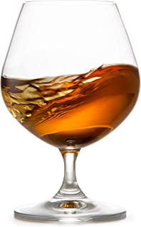 Circleware 45020 Chantal Cognac Wine Snifter Whiskey Glasses, Set of 4 All- All-Purpose Elegant Entertainment Party Beverage Glassware Drinking Cups for, Beer, Liquor and Bar Decor, 22 oz, Brandy