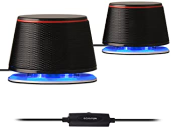 Sanyun SW102 Computer Speakers, 5Wx2, Deep Bass in Small Body, Stereo 2.0 USB Powered 3.5mm Aux Multimedia Speakers, ...