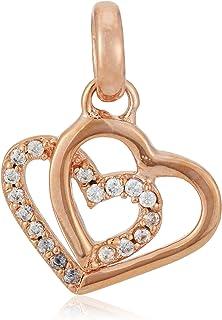 ESPRIT ESCH01568C000 Women's Charm JW50247 Rhodium-Plated Brass Zirconia White Round Cut