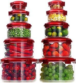Lockcoo Ensemble de Récipient boîtes de Rangement Alimentaires hermétiques, Lot de 10 Ensembles de conteneurs de Stockage ...