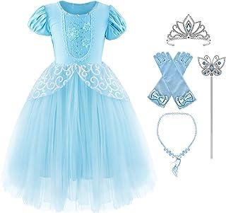 Okidokiyo Girls Princess Costume Classic Deluxe Party Dress up