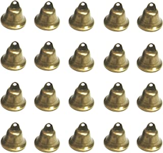 Maydahui 20PCS Bronze Small Jingle Bells Vintage Brass Color Mini (1.7 X 1.5 Inches) for Wedding, Doors, Dog Collar, Jewelry,Sewing,Christmas Hallowmas Decoration