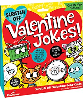 Playhouse Funny Joke Scratch-Off 28 Card Super Valentine Exchange Pack for Kids
