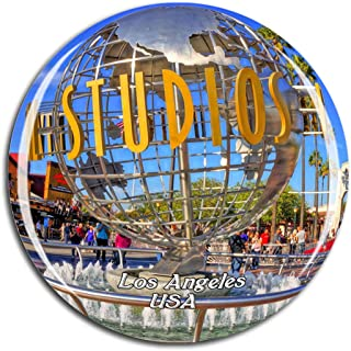 Weekino USA America Universal Studios Hollywood Los Angeles Fridge Magnet 3D Crystal Glass Tourist City Travel Souvenir Collection Gift Strong Refrigerator Sticker