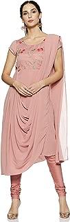 BIBA Women's Cotton Achkan Salwar Suit Set