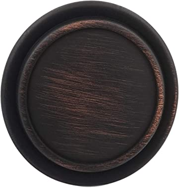 """Top Ring Round Cabinet Knobs Cabinet Hardware 1.21"""" Diameter, Hestia Hardware, 10 Pack - Oil Rubbed Bronze (Z6.D31.10.ORBHD)"""