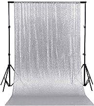 8x8FT Vinyl Photo Backdrops,Hearts,Ornamentation Stripes Dots Background for Graduation Prom Dance Decor Photo Booth Studio Prop Banner