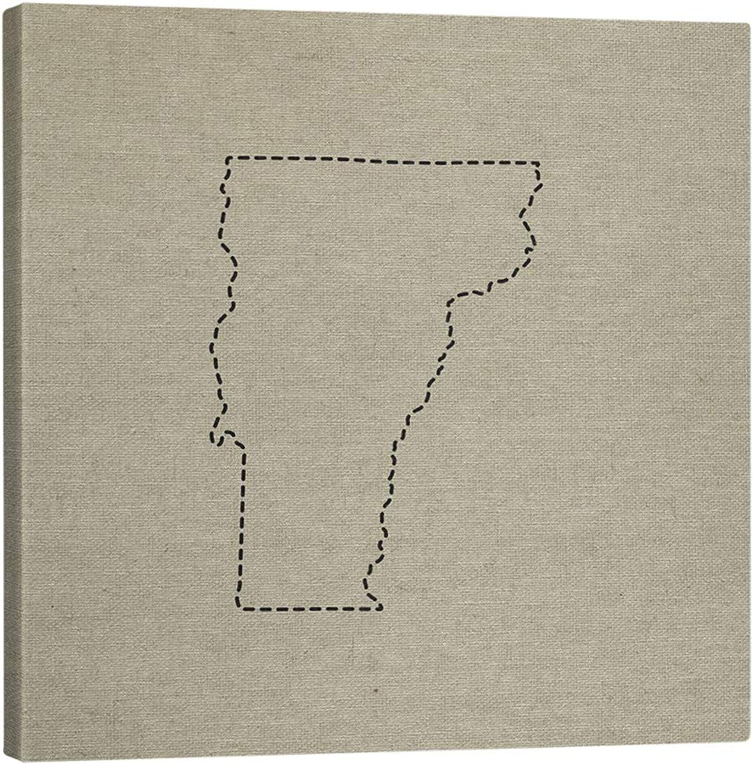 ArtVerse SMI412-MCS-1212 Smith Semi Gloss Canvas Stretched 12 X 12 State Outline