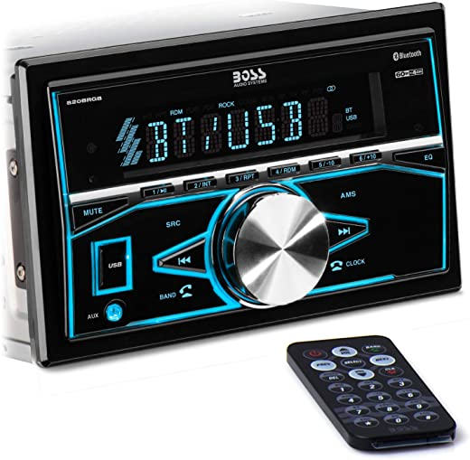 BOSS Audio Systems 820BRGB Multimedia Car Stereo - Double Din, Bluetooth Audio and Hands-Free Calling, MP3 Player, USB Port, AUX Input, AM/FM Radio...