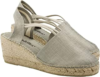 2 Espadrilles from Barcelona - Sandals Shoes Handmade in Spain - Espadrilles Heel Isabel