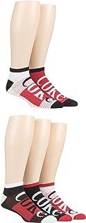 Coca Cola Mens Striped Shoe Liner Socks Pack of 5