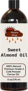 Sponsored Ad - Nature Drop Natural Sweet Almond Oil - For Skin Moisturizer, Wrinkles, Massage, Anti-Aging (6 oz)