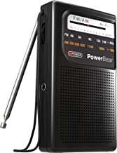 PowerBear AM FM Portable Radio | Battery Operated, Long Range, Handheld