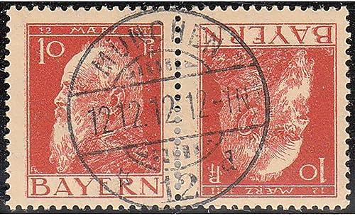 Goldhahn Bayern K 2 III gestempelt Briefmarken für Sammler