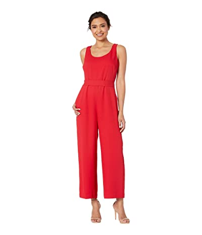 Vince Camuto Sleeveless Scoop Neck Pique Jumpsuit (Coral Sunset) Women
