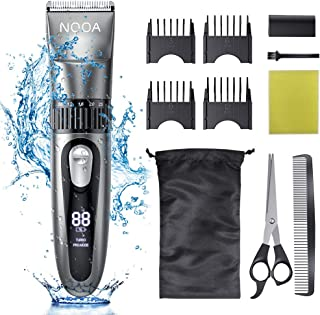 NOOA Hair Clippers Cordless Hair Trimmer Men`s Beard Trimmer Complete Haircut Grooming Kit Hair Cutting Kit for Men, Women & Kids Rechargeable