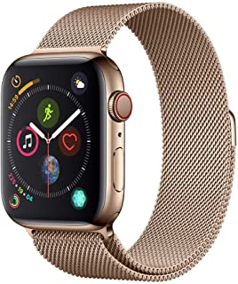 AppleWatch Series4 (GPS+Cellular, 44mm) - Gold Stainless Steel Case with Gold Milanese Loop