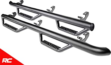 Rough Country Nerf Bar Hoop Steps Compatible w/ 2018-2019 Jeep Wrangler JL 4DR Side Steps Rock Sliders RCJ1866