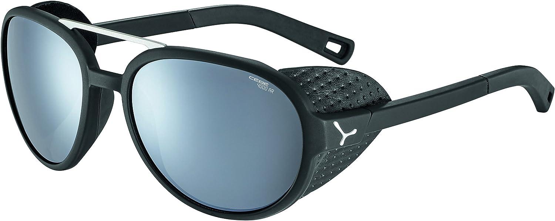 Cébé SUMMIT MATTE BLACK SILVER GREY MINERAL AR unisex Sunglasses