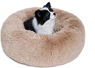 36''/30''/23'' Plush Calming Dog Bed Anti-Anxiety Donut Cuddler Machine Washable Anti-Slip Pet Bed with Waterproof Bottom ...