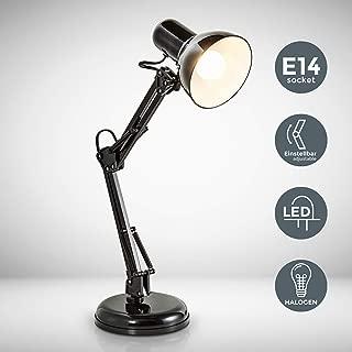 Grundig Lampe B/ürolampe Schreibtischlampe Tischlampe Leselampe Leuchte B/üroleuchte Schreibtischleuchte Tischleuchte Leseleuchte E27