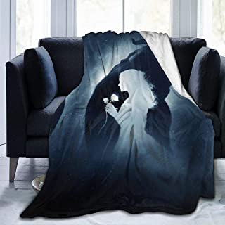 LJYDZY Premium Flannel Fleece Blanket- Beauty and The Beast Soft Warm Cozy Micro Blanket for Sofa Couch