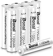 BONAI Pilas Recargables AAA 1100mAh Pilas AAA Recargable 8 Piezas 1.2V NI-MH 1200 Ciclos Precargadas Baja autodescarga Pilas HR03/LR03 Recargable