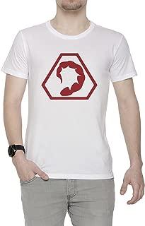 Fraternidad de Cabecear Hombre Camiseta Cuello Redondo Blanco Manga Corta Todos Los Tamaños Men's White