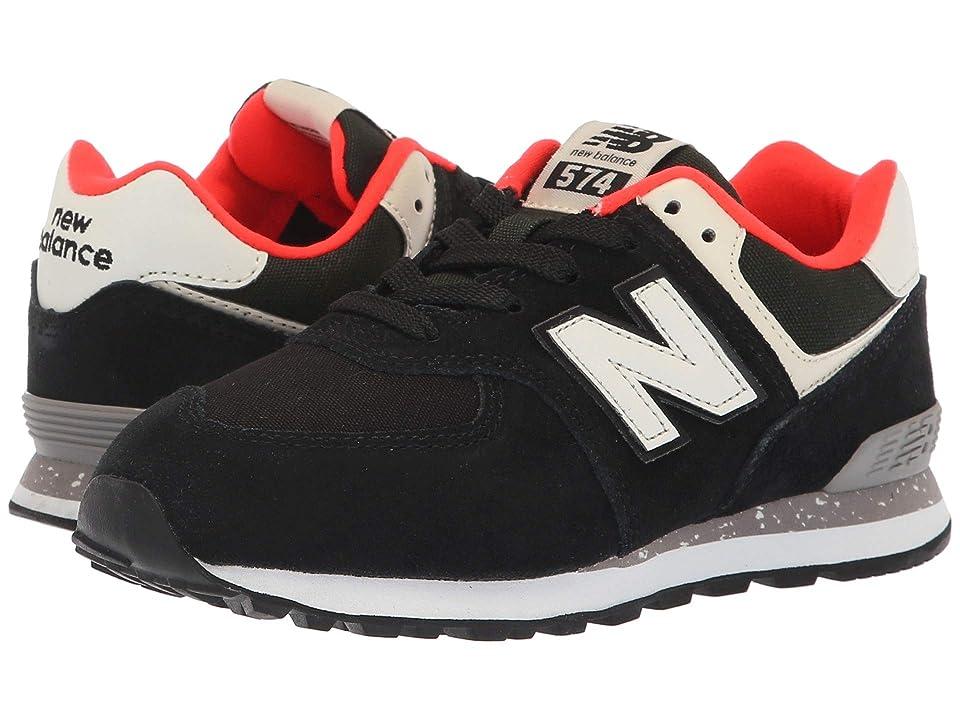 New Balance Kids PC574v1 (Little Kid) (Black/Flame) Boys Shoes