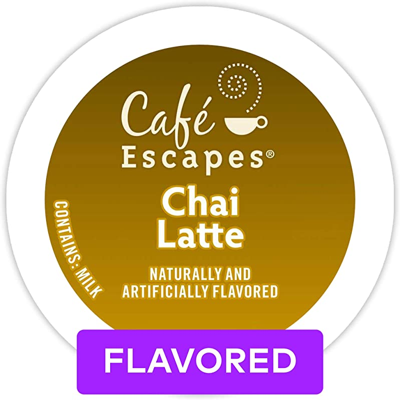 Caf Escapes Chai Latte Single Serve Coffee K Cup Pod Flavored Coffee 72