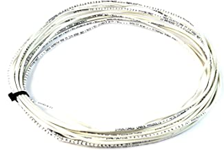 100' ft 22 Gauge 4 Conductor Solid Security Alarm Wire Cable white