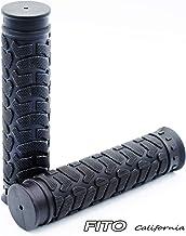 """Fito Rubber Handlebar Grips - Black, Length: 130mm, Handlebar Diameter: 22.2mm(7/8""""), for Beach Cruiser Bike, Fixie Fixed ..."""