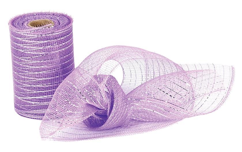 ih casa décor mesh Ribbon Purple, 6 Piece