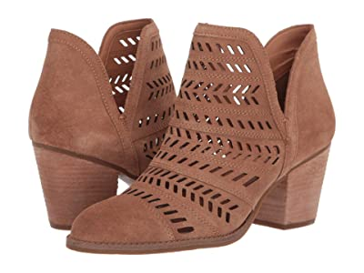 FRYE AND CO. Allister Feather Bootie (Pecan Suede) Women
