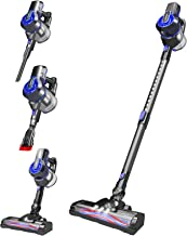 Cordless Vacuum Cleaner, 20000Pa Power Suction 4 in1 Stick Vacuum Cleaner with Wall Mount, 200W Brushless Motor Cordless V...