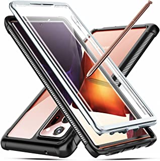 Temdan for Samsung Galaxy Note 20 Ultra Case, Built-in Screen Protector Full Body Heavy Duty Shockproof Case Support Wireless Charging for Samsung Galaxy Note 20 Ultra 6.9 inch 2020 Black/Clear