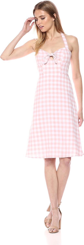 BB Dakota Womens Annelise Gingham Halter Midi Dress Dress