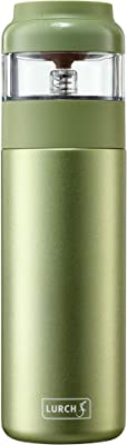 Lurch 240916 2 in 1: Insulated Bottle Maker for Green and White Tea, Stainless Steel