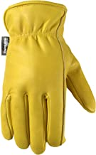 Men's Winter Leather Work Gloves, 100-gram Thinsulate, Cowhide, Lined Leather, Large (Wells Lamont 1108L)