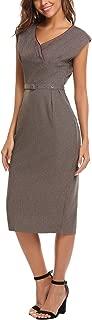 Zeagoo Womenโ€™s V-Neck Sleeveless Slim Bandage Dress Sexy Split Maxi Evening Party Dress
