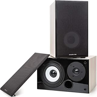 Deco Home DHPAS100 Passive 140W Bookshelf Speaker Set, 5-inch Woofer with Dome Tweeter, Modern...