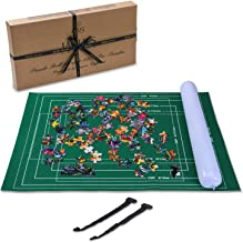 Jaques Puzzle Matt UPTO 1500 Pcs - Puzzle roll With Fold-able Cloth - Stores in a TINY Space - Jigsaw Puzzle Roll Up matt with Easy-Catch Fastening Baize Material