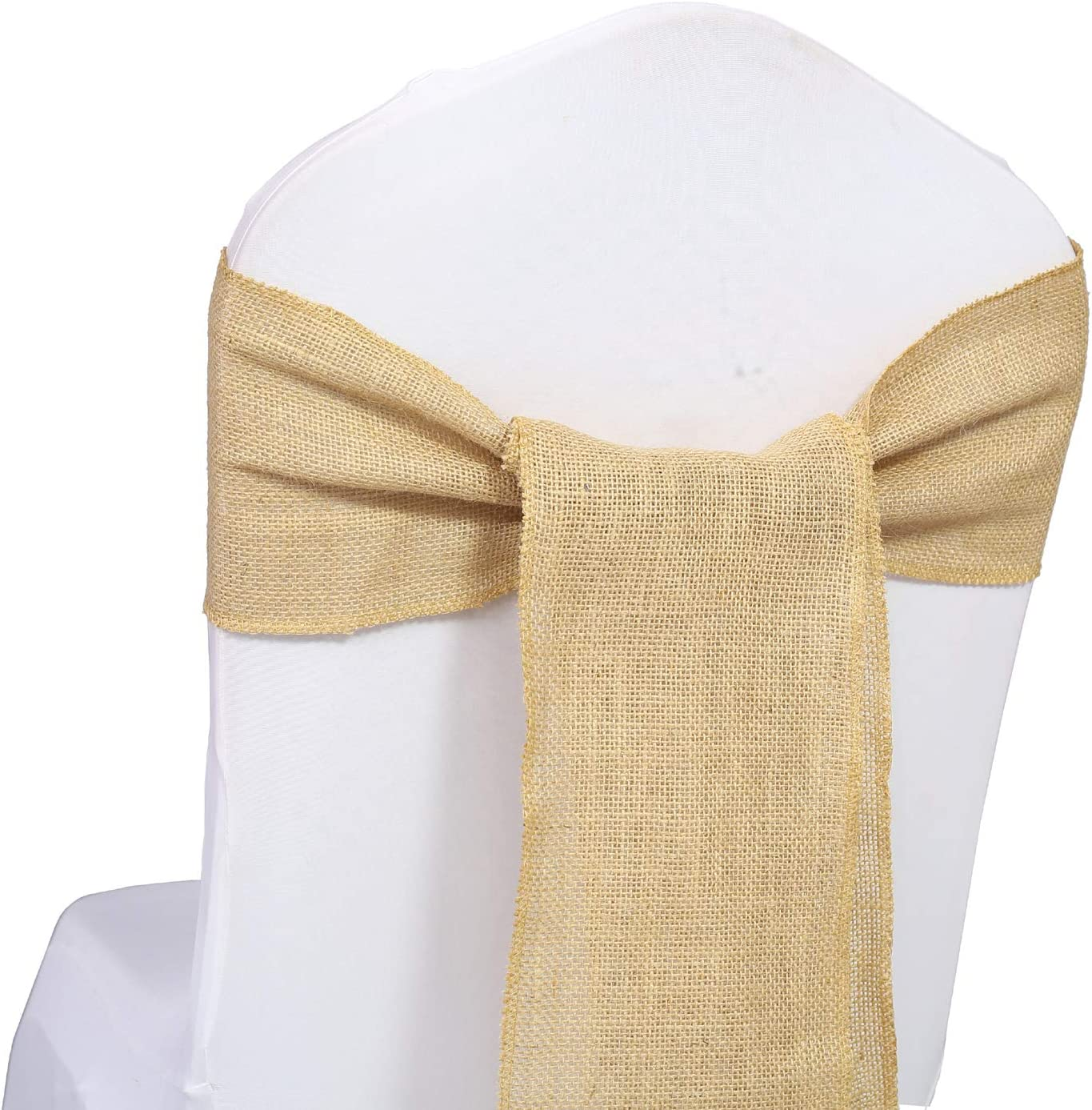 mds Pack of いつでも送料無料 10 Natural Burlap Bows Country V Sashes 再再販 Jute