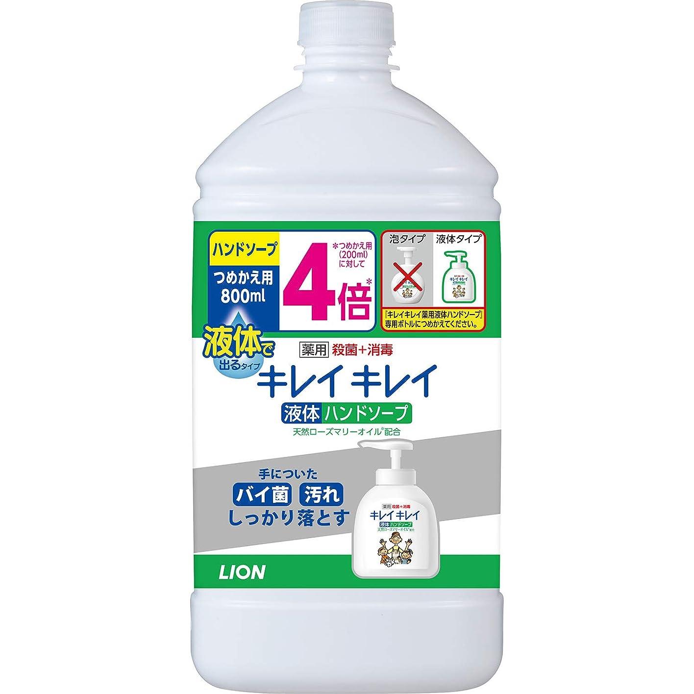 不器用遠洋のハーネス(医薬部外品)【大容量】キレイキレイ 薬用 液体ハンドソープ 詰替特大 800ml