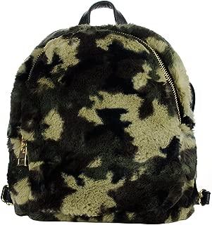 C.C Women's Faux Fur Fuzzy Backpack Schoolbag Shoulder Bag Purse, Camouflage