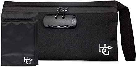 Herb Guard Smell Proof Bag with Built-in Combo Lock (11x6 inches, Holds 2 Ounces) - Locking Pouch Comes with 2 Resealable Bags to Keep Goods Fresh for Months
