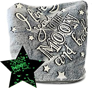 Anna'style Design Glow in The Dark Kids Blanket Soft Fluffy and Cozy Christmas Lightweight Calm Fleece for Toddler Stroller Teenage Lap or Throw Couch (50 x 60 Inches Dark Grey)