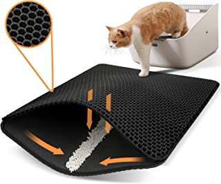Polarduck Cat Litter Mat,Cat Litter Trapping Mat Extra Large, Honeycomb Double Layer Design, Urine and Water Proof Materia...