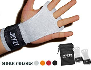 Jeyzy Leather Gymnastics Grips 3 Hole Hand Grips with...