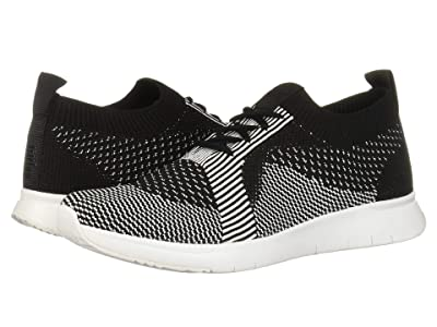 FitFlop Marble Knit Slip-On Sneaker (Black/White) Women